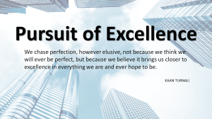 Pursuit of Excellence by Kaan Turnali